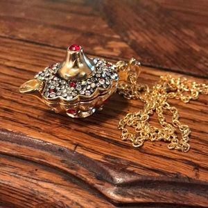 Necklace with genie lantern & hidden surprises